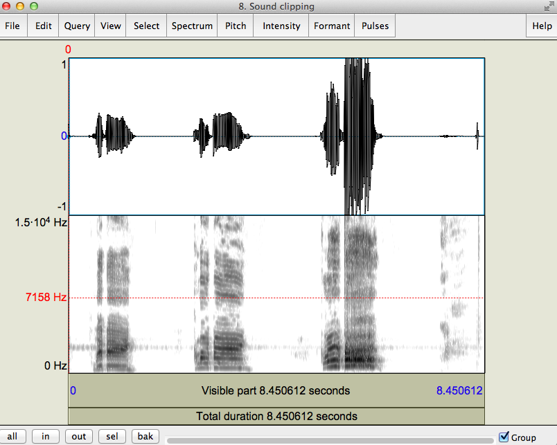 "The last ""clipping"" is clipped. See how the waveform extends outside the waveform window?"